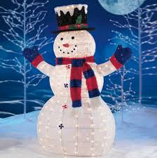 snowman decorations absolutely design outdoor christmas snowman decorations lighted
