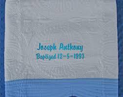 Baptism Blanket Personalized Baptism Quilt Etsy
