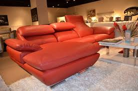 orange leather sectional sofa contemporary italian leather sectional sofa