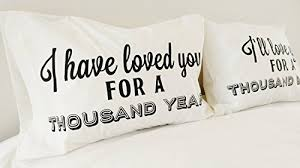 cotton anniversary gifts a thousand years perri song couples pillowcases