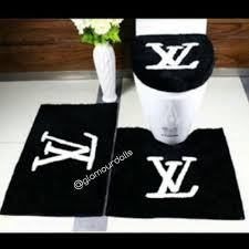 Bathroom Carpets Rugs Black Louis Vuitton 3pc Bathroom Rug Set Dolls