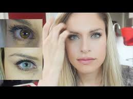 light blue eye contacts light blue colored contacts for dark eyes solotica crystal youtube