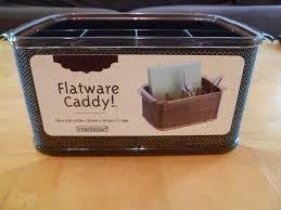 flatware holder bamboo wooden utensil caddy flatware holder