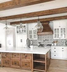 rustic glass kitchen cabinets beautiful rustic kitchen with glass tile backsplases