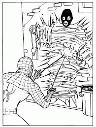 spiderman robbers coloring picture kids spiderman