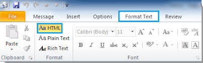 format html for email how to change message to html format in outlook