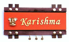 Buy Handworkz Beautiful Customized Name Plate Green Free Shipping - Designer name plates for homes