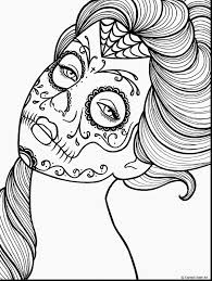 surprising dia de los muertos mask coloring pages with day of the