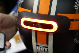 motorcycle shoes with lights want to wear a brake light on your head cosmo connected is your
