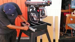 Craftsman Radial Arm Saw Table Craftsman Radial Arm Saw Safety Kit Recall And Retrofit Youtube