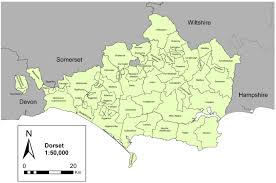 Dorset England Map by Electronic Anderson