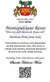 montepulciano rosso skandis fine wines llc