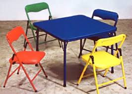 childrens folding table and chair set children s folding table folding chairs furniture set parenting