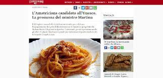 si e de l unesco gamberorosso it amatriciana as candidate of unesco stefano boeri