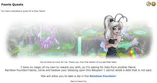 fountain faerie quest neopets general chat the daily neopets forum