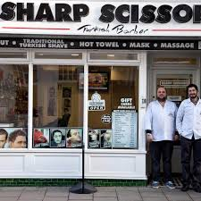 sharp scissors turkish barber hairdresser haircut brighton