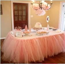 princess baby shower decorations cheap wedding tulle tutu table skirt 100 cm 80 cm princess baby