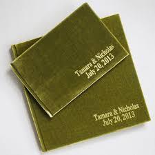 velvet raptor personalized guest journal keepsake wedding guest book