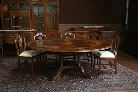 Large Round Dining Table Seats 12 Round Dining Table With Leaf Extension Special For You