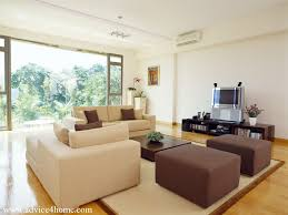 Brown Sofa White Furniture Cream And Brown Sofa Design And White Wall In Living Room With