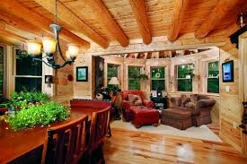 Log Home Interior by A Couple U0027s Maine Log Home Is Their Second
