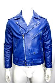 blue motorcycle jacket mens fashion classic biker sport motorcycle royal blue leather jacket