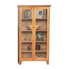 Cherry Wood Bookcase With Doors Cherry Book Shelves Custom Glass Door Shaker Bookcase