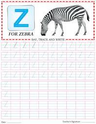 capital letter writing practice worksheet alphabet z download