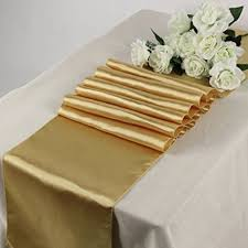 gold star table runner amazon com mds pack of 10 wedding 12 x 108 inch satin table runner