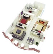 Floorplan Of A House Impressive 3d Home Plans 2 House Floor Smalltowndjs Com Haammss