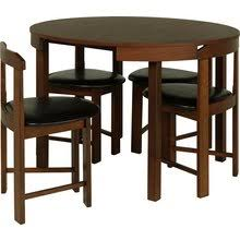 Argos Bistro Table Buy Hygena Alena Circular Solid Wood Table 4 Chairs Black At
