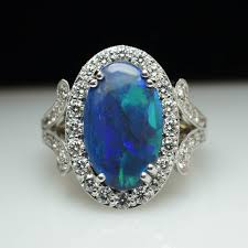 real blue opal black opal engagement rings for your best ring option