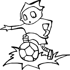 zombie boy kids playing soccer playing football coloring page