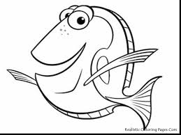 magnificent printable fish coloring pages with finding nemo