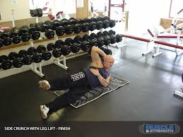 Leg Lift Bench Side Crunch With Leg Lift Video Exercise Guide U0026 Tips