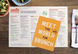 good design makes me happy giraffe world kitchen branding and