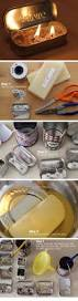 homemade candles in recycled tins click pic for 24 diy christmas