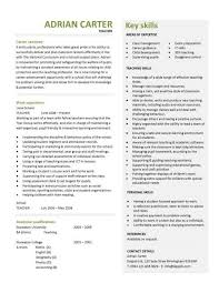 Resume For Educators View All Education Resume Samples And Templates Teacher Cv