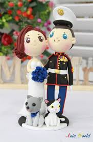 marine cake topper wedding cake topper us marine with his beautiful and lovely