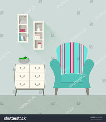 home interior modern interior design living stock vector 303969068