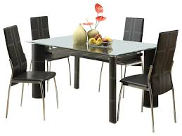Homelegance Wilner Rectangular Glass Dining Table In Black - Glass for kitchen table
