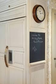chalkboard built into refrigerator side panel kitchens