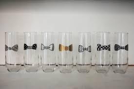 stemless champagne flutes groomsmen stemless champagne flute bow tie glasses groomsmen