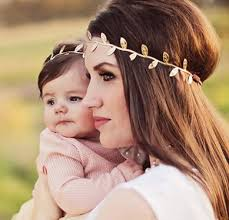 boho headband and baby matching gold leaf boho headbands kalyn s finds