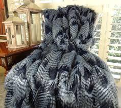 Faux Fur Throw Grey Blue Dark Navy Faux Fur Throw Blanket U0026 Bedspread Fancy