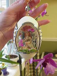 decorated goose eggs real carved decorated goose egg collectible ornament fairy