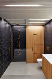 Bathroom Design Idea Bathroom Design Idea Black Brass White And Wood Contemporist