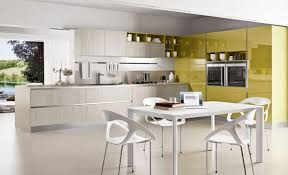 Painted Wooden Kitchen Cabinets Kitchen Color Scheme U Shaped Green Painted Wooden Kitchen