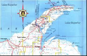 map of calumet michigan map and lodging lakes michigan in the keweenaw peninsula