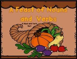 a feast of nouns and verbs thanksgiving and nouns and verbs